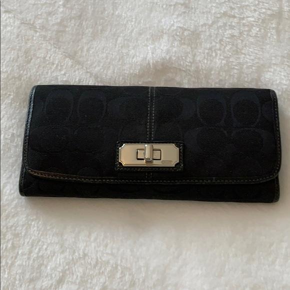 Coach Handbags - COACH Black Wallet! Signature C's!!